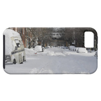 Residential urban (city) street on sunny winter iPhone SE/5/5s case