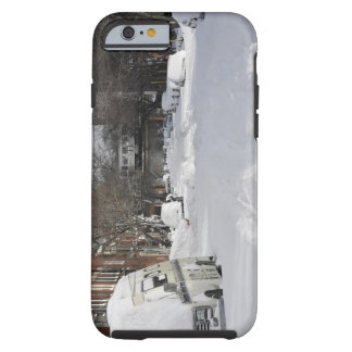 Residential urban (city) street on sunny winter tough iPhone 6 case