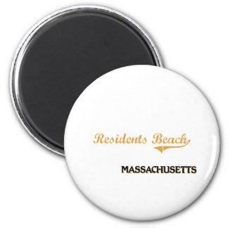 Residents Beach Massachusetts Classic 2 Inch Round Magnet