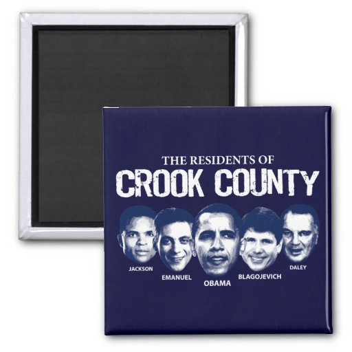 Residents of Crook County 2 Inch Square Magnet