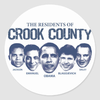 Residents of Crook County Classic Round Sticker