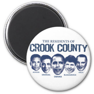 Residents of Crook County 2 Inch Round Magnet