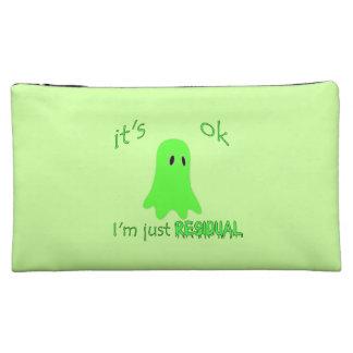 Residual Haunting - Green Ghost Cosmetic Bag