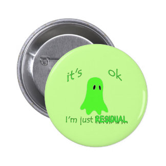 Residual Haunting - Green Ghost Buttons