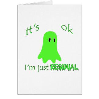 Residual Haunting - Green Ghost Card