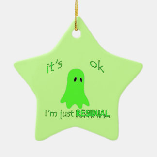 Residual Haunting - Green Ghost Ceramic Ornament