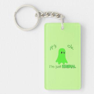 Residual Haunting - Green Ghost Double-Sided Rectangular Acrylic Keychain