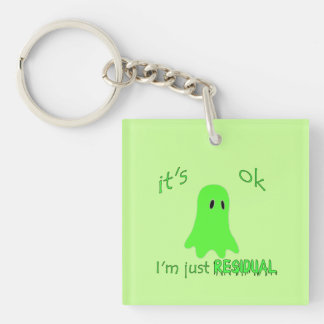 Residual Haunting - Green Ghost Double-Sided Square Acrylic Keychain