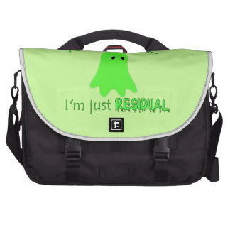 Residual Haunting - Green Ghost Laptop Bag