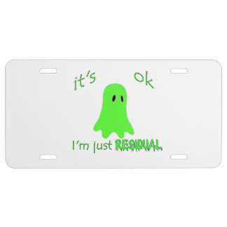 Residual Haunting - Green Ghost License Plate