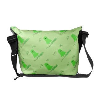 Residual Haunting - Green Ghost Messenger Bags
