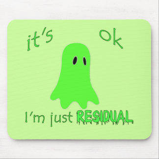 Residual Haunting - Green Ghost Mouse Pad