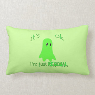 Residual Haunting - Green Ghost Pillow