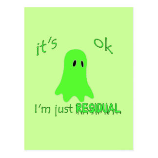 Residual Haunting - Green Ghost Post Card
