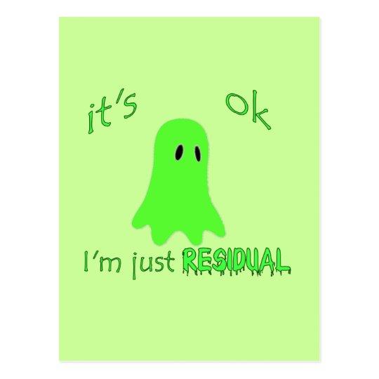 Residual Haunting - Green Ghost Postcard