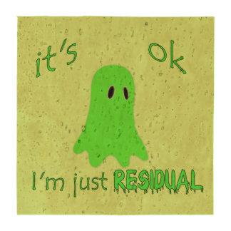 Residual Haunting - Green Ghost Beverage Coaster