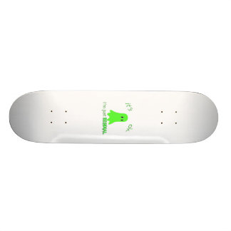 Residual Haunting - Green Ghost Custom Skateboard