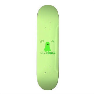 Residual Haunting - Green Ghost Skateboard Decks
