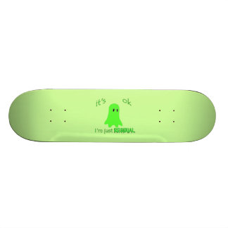 Residual Haunting - Green Ghost Skateboard