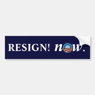 RESIGN! now. Bumper Sticker