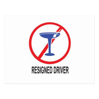 Resigned Driver Postcard