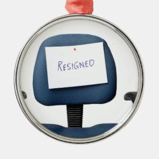 Resigned Metal Ornament