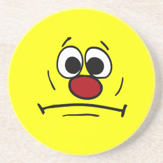 Resigned Smiley Face Grumpey Drink Coaster
