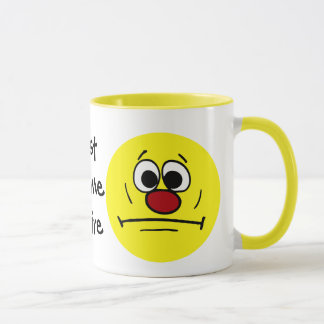 Resigned Smiley Face Grumpey Mug