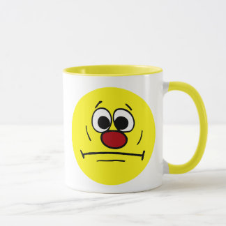 Resigned Smiley Face Grumpey Mug