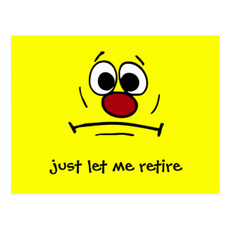 Resigned Smiley Face Grumpey Postcard