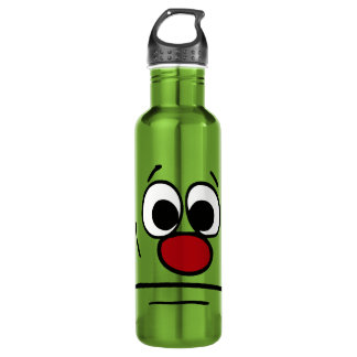 Resigned Smiley Face Grumpey Water Bottle