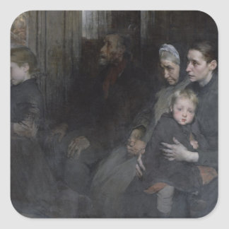 Resigned to their Lot, 1901 Square Sticker