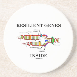 Resilient Genes Inside (DNA Replication) Drink Coaster