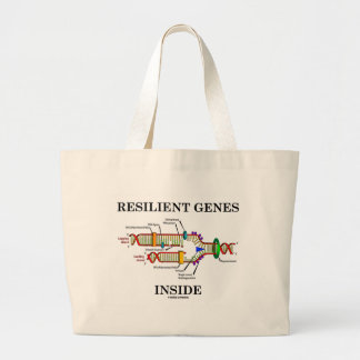 Resilient Genes Inside (DNA Replication) Large Tote Bag