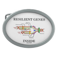 Resilient Genes Inside (DNA Replication) Oval Belt Buckle