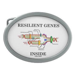 Resilient Genes Inside (DNA Replication) Oval Belt Buckle