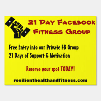Resilient Health and Fitness 21 Day Challenge Sign