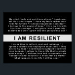 "RESILIENT LIVING: I AM RESILIENT POSTER<br><div class=""desc"">There is something quite profound about the effect quotations can have on us. It's amazing what a mere string of words can do to touch our hearts and give us just that bit of extra courage. A thoughtful quotation combined with just the right image can create a powerful vision to...</div>"