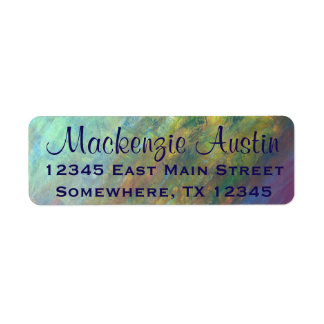 Resilient Purple Green Blue Yellow Personalized Label