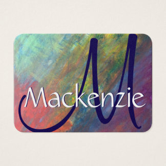 Resilient Rainbow Abstract ROYGBIV Modern Business Card