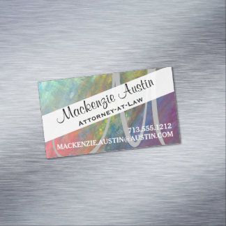 Resilient Rainbow Abstract ROYGBIV Modern Business Card Magnet