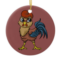 Resilient Rooster! Ceramic Ornament
