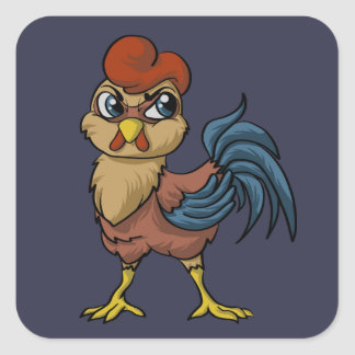 Resilient Rooster! Square Sticker