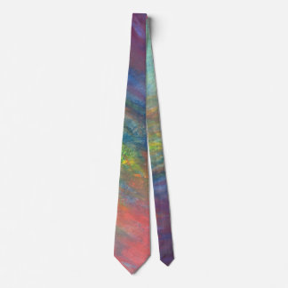 Resilient ROYGBIV Abstract Rainbow Yellow Red Blue Neck Tie