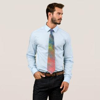 Resilient ROYGBIV Rainbow Abstract Trendy Neck Tie