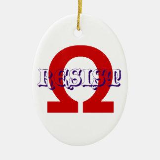 Resist action ceramic ornament