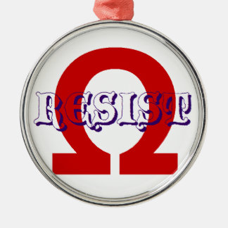 Resist action metal ornament