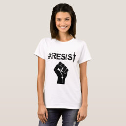 """#Resist """"Anti-Trump"""" Political Button T-Shirt"""