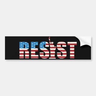 Resist Anti Trump Resistance Persist 2 Bumper Sticker