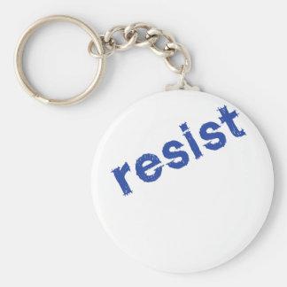 Resist Basic Round Button Keychain